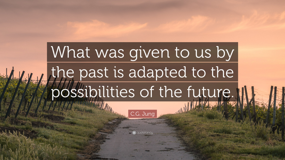 Letting go of the past. C.G. Jung quote